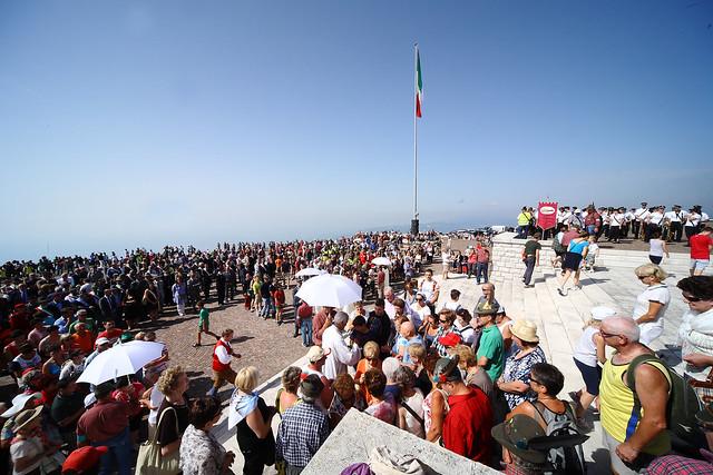 La cerimonia annuale sul Monte Grappa