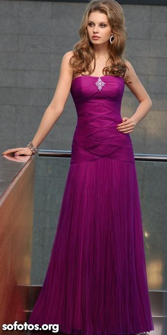 Vestido de festa violeta