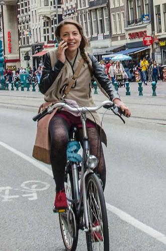 Upskirt girls on bicycles