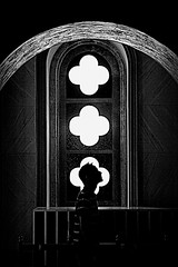 daredevil (bostankorkulugu) Tags: light blackandwhite bw man church window monochrome face silhouette sepia architecture dark three blackwhite lucifer graphics arch cross cathedral head geometry horns cyprus satan devil horn bostanci clovers byzan