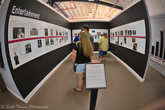 Fair Entertainment Timeline (Scottwdw) Tags: travel summer vacation people newyork building history plaque fairgrounds nikon floor display sigma exhibit ceiling fisheye entertainment photographs timeline syracuse walls popculture grange newyorkstatefair nysf 150mmf28 d700 scottthomasphotography