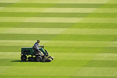 Mowing  (Explore 09/09/12) (only lines) Tags: berlin green field grass germany football stadium soccer pitch olympic mowing