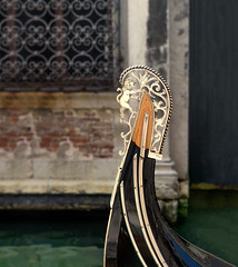 Do all things with love.. (areyarey) Tags: old travel venice summer italy water sign closeup architecture gold golden boat canal italian europe mediterranean italia symbol traditional transport decoration vessel journey transportation romantic gondola venetian venecia venezia shining gondolier veneto areyarey dodgescap