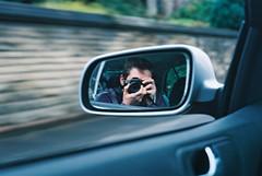 :v (Headcrabs) Tags: film me car 35mm grey drive mirror martin pentax fast stuart petrol boyle skoda selfie rainford billinge p30