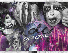 Applause! <3 (@fehfarina :)) Tags: abstract art monster lady photoshop little mother pop edit gaga applause blend artpop ladygaga