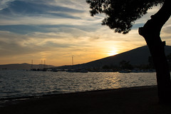 Trogir Harbor Sunset (Gikon) Tags: sunset sea sun clouds sunrise coast harbor landscapes nikon day shadows cloudy croatia 1855mm trogir gikon d3100