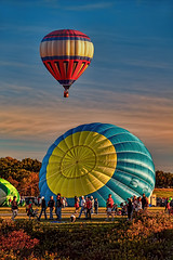 Flight Delay (NYRBlue94) Tags: new york blue sunset red white mountain ny hot festival airport twilight memorial dusk air balloon flight falls launch floyd bennett adirondack glens queensbury platinumheartaward