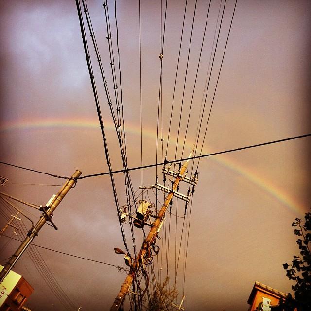 大きい虹!7色見えるのは久しぶりだな~♪ #eirin #虹