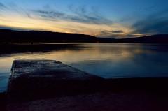 Loch Lomond sunset (pearlsareanuisance) Tags: sunset loch lomond balloch overprocessed afnikkor20mmf28d