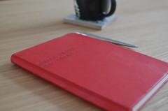 Bigger Idea (alternative dobson) Tags: coffee liverpool 35mm paper notebook big nikon diary small journal starbucks f18 ideas afs dx parkerjotter d5100