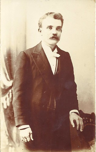Young Man With Moustache - RPPC