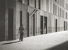 shadows (FREISTELLEN) Tags: barcelona street autumn people urban blackandwhite sun black backlight blackwhite spain shadows sundown streetphotography diagonal schatten schwarz avinguda schwarzweis strase blackwhitephotos streetbw strassenfotografie strasenfotografie vision:text=0513 vision:outdoor=0897