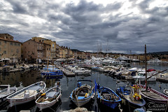 Saint Tropez, postcard (Tiziano Photography) Tags: houses sea sky panorama clouds port reflections landscape boats pier nuvole mare barche case porto cielo riflessi molo sainttropez d610 nikond610