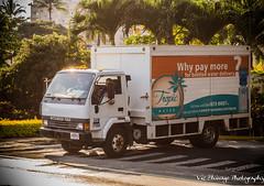 Tropic Water (Vic Zhivago) Tags: water truck hawaii flora flickr maui palmtree juxtaposition honokowai
