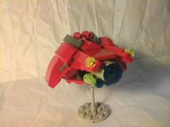 Spaceship 2 (Jandyman) Tags: red brick toy construction ship lego space micro spaceship block build microscale flickrandroidapp:filter=none constructionblock