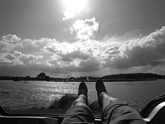 Relax. (henrysharpe) Tags: sunset portrait sun white house lake black colour castle field clouds self project boat cross skateboarding farm eerie east faded eden reach timer derby 1950 greyscale elvaston