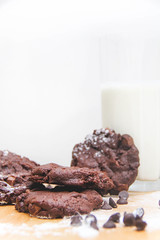 Dark Chocolate Fudge Cookies (rachelletanphotography) Tags: lighting camera family light food house abstract art home cooking beautiful cookies composition photoshop canon project studio fun thailand photography baking student shoot artist cookie photographer photoshoot chocolate bangkok experiment fudge chips homemade photograph bakery brownie experimentation dslr capture bake bkk edit experimenting edits lightroom foodphotography compiled eos7d canoneos7d