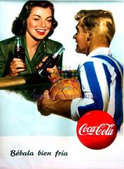 """Coca Cola. """"Bébala bien fría"""". Años 50"""