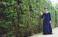 The garden (Verónica Bautista) Tags: barcelona españa woman girl garden spain nikon dress medieval parcdellaberintdhorta d7000