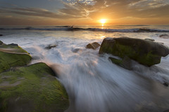 Channel Your Energy (brianconnollyphotography) Tags: ocean sunset sea sky sun motion color water clouds landscape rocks waves lajolla