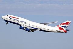 Bit of a wobble there...! [Explored] (Tony Osborne - Rotorfocus) Tags: london airport heathrow jet british boeing airways 747 jumbo lhr 747400 2014 speedbird