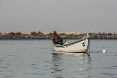 Fisherman, Shatt al-Arab Waterway, Iraq