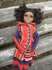 Moxie Teenz Bijou Doll (Medithanera) Tags: orange lashes buttons bijou aa porcelaineyes moxieteenz