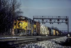 Chessie 4186  CB-97  12-26-84  Halethorpe, Md. (Vince Hammel Jr) Tags: railroad trains scanned