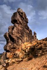 Felswand (CLZ-Fotografie) Tags: color colors wall germany landscape nikon tour natur feld wiese wolken steine landschaft regen wetter farben frhling felsen teufelsmauer regenwolken felswand d3200 devils tonemappig clz