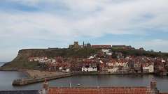 Whitby Rooftop View (Deb Simpkins) Tags: houses roof sea rooftop abbey coast spring nikon view harbour yorkshire coastal whitby coolpix stmaryschurch 2014 eastcliff l810