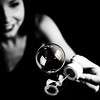 Équilibre (Christine Lebrasseur) Tags: portrait people blackandwhite woman france art 6x6 smile canon hand bubble teenager fr onblack gironde 500x500 léane saintloubes allrightsreservedchristinelebrasseur