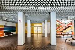 Lobby (GregoireC - www.gregoirec.com) Tags: building berlin architecture modern canon germany office plattenbau dri tempelhof gesundheitsamt 5dmarkii tse17mmf4l