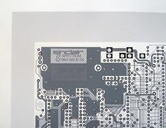 Circuit Portrait V - Sinclair ZX Spectrum (Euphy) Tags: game art monochrome ink computer paper print four layout grey mono acrylic technology geek spectrum board gray monochromatic screen retro nostalgia layer pcb circuit sinclair circuitboard zx brd