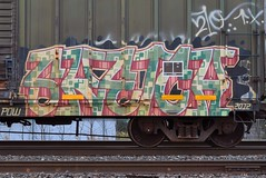 SKETCH (TheGraffitiHunters) Tags: graffiti graff spray paint street art colorful freight train tracks benching benched sketch boxcar