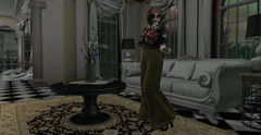 Luxe (likethewaves) Tags: 1920s 1920 20s 1930 1930s 30s flapper vintage retro historic modern classic reinvented widepants dominion femdom girlpower mustard flowers floral florals embroidery embroidered collabor88 mansion cloche eloisebaker fancy crystal chandelier crystals lighting sparkle sparkly glass crop cropped croptop bow bows high highwaisted waist