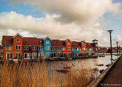 Reitdiep-5,-flickr (aafbk) Tags: reitdiep groningen architectuur architecture huizen houses lucht sky clouds wolken winter holland netherlands nederland
