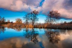 20170224-Canon EOS 6D-2723 (Bartek Rozanski) Tags: reeuwijk zuidholland netherlands holland nederland reeuwijkseplassen oukoop lake water cloud reflection sunset greenheart groenehart ngc