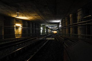 Tunnel drawer - At the back, station Hospitals - Linea H
