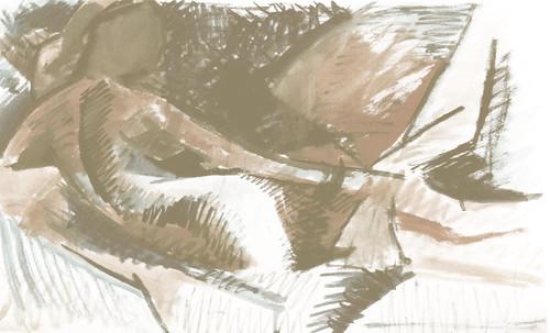 "La Gran Odalisca, argumentación de Jean Auguste Ingres (1814), sinapsis de Auguste Renoir (1890), Pablo Picasso (1907), Amadeo Modigliani (1917). • <a style=""font-size:0.8em;"" href=""http://www.flickr.com/photos/30735181@N00/8815596622/"" target=""_blank"">View on Flickr</a>"