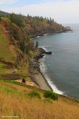 Rugged Coastline Near Cascade Pier,Viewed From the Lookout on Youngs Road, Norfolk Island (Black Diamond Images) Tags: coast lookout cliffs coastline cascade rockycoastline youngsroad norfolkislandcoastline youngsrd rickstour youngsroadlookout