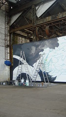Partena_Hdp (BNZR!) Tags: painting ships grand battle canvas installation format making xl toile fresque ralisation partena
