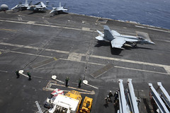 18 June Batch 6 of 8 (USS NIMITZ (CVN 68)) Tags: blue diamonds fighter gulf aircraft air group flight navy craft super landing deck land strike hornet lands oman 147 uss carrier 68 squadron nimitz cvn68 cvn gulfofoman ussnimitzcvn68 vfa