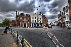 Bromley (n.pantazis) Tags: street red england sky streets lines clouds grey cityscape pentax cloudy wideangle walker streetshot bromley pentaxk30