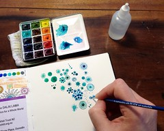 Little Universes (MagaMerlina) Tags: watercolor mandalas artistjournal winsorandnewton bijoubox