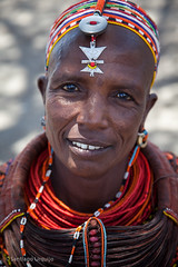 20121003_1127 (Zalacain) Tags: africa portrait woman black face kenya tribe traditionaldress laketurkana loyangalani
