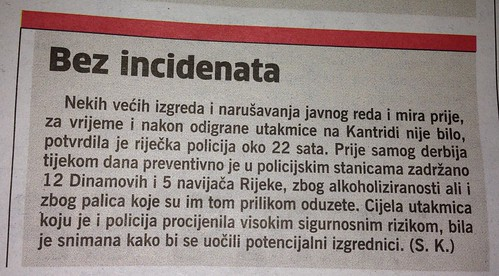 Bez incidenata (Novi List, 29.07.2013)