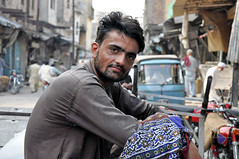 The Loader (Personified Images (Ahsham's Photography)) Tags: dof photowalk stich hardship ajrak rajabazar personifiedimages