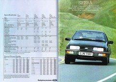 Ford Cars July 1983 054-055 Escort and Sierra (Al Walter) Tags: ford sierra 1983
