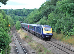 HST descending to the Severn Tunnel (Rail Blue Boy) Tags: hst class43 fgw cattybrook