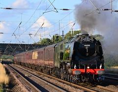 The Duchess (2) (Feversham Media) Tags: york yorkshire northyorkshire lms copmanthorpe valeofyork steamlocomotives duchessofsutherland stanier 46233 railwaytouringcompany steamspecials thescarboroughflyer beckettscrossing lmsprincesscoronationpacifics